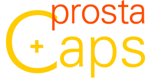 Prostacaps logo - Ondersteunt de blaas en de prostaat. Bevat Pompoenpit en zaagbladpalm.
